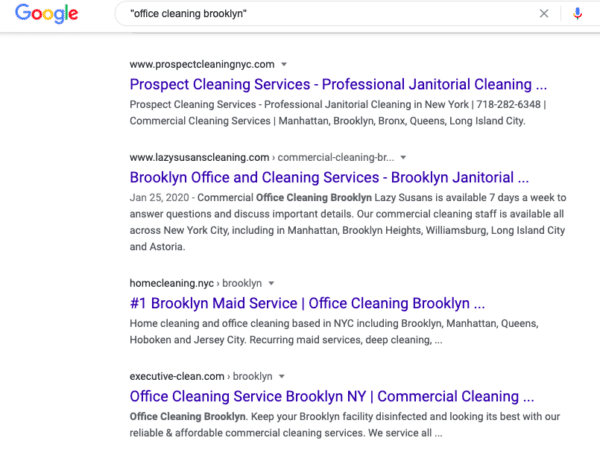 seo for a cleaning business