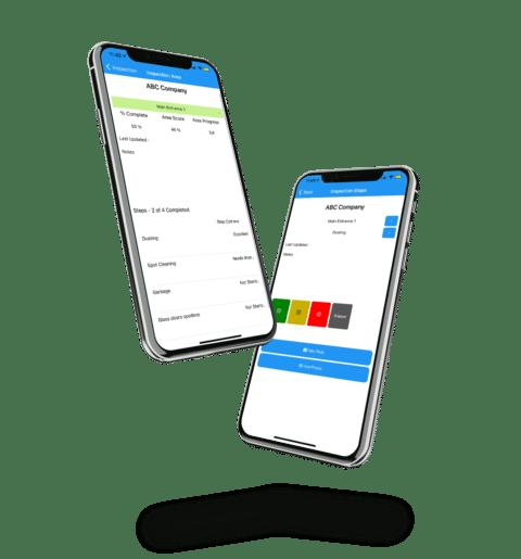 Jm Inspections app on an iphone 12