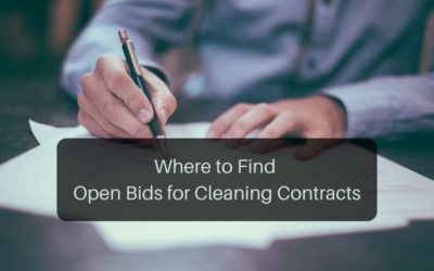 Where to Find Open Bids for Cleaning Contracts